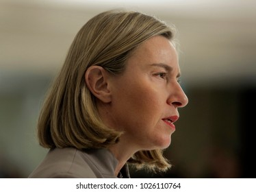 Federica Mogherini,  High Representative of the European Union for Foreign Affairs and Security Policy attends the informal meeting Gymnich of the EU foreign ministers in Sofia, Friday, Feb. 16, 2018.