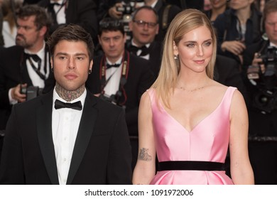 Federico Leonardo Lucia and Chiara Ferragni attend the screening of 'Sink Or Swim (Le Grand Bain)' during the 71st annual Cannes Film Festival at Palais des Festivals on May 13, 2018 in Cannes, France