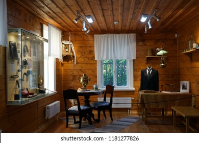 FEDOSKINO, RUSSIA  CIRCA 2018 Room in the Museum of folk arts and crafts