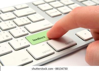 Feedback concept - modernized computer keyboard with feedback keypad