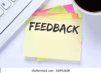 Feedback contact customer service opinion survey business review desk computer keyboard