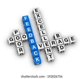 feedback form cubes crossword puzzle