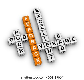 feedback form cubes (orange-white crossword puzzles series)