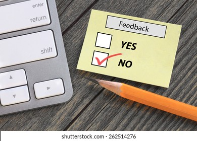 feedback form showing no opinion