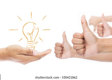 Feedback, Like and dislike isolate on white background, Businessman idea concept