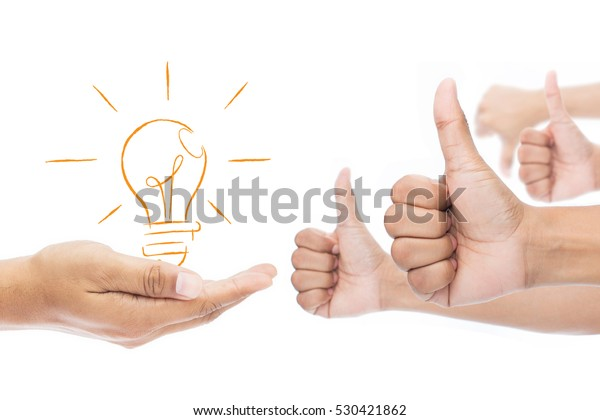 Feedback, Like and dislike isolate on white background, Businessman idea concept