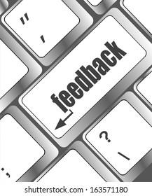 feedback on computer keyboard key button, raster