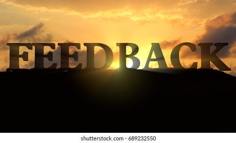 Feedback on sunset landscape - 3d rendering