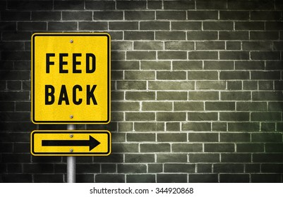 Feedback - road sign illustration
