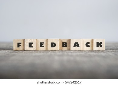 FEEDBACK word made with building blocks