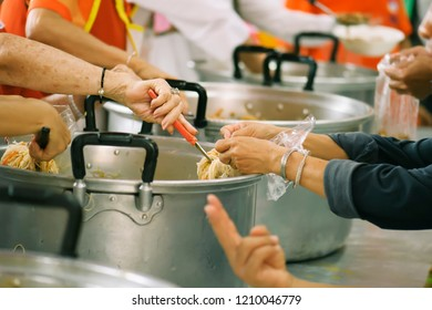 Feeding the hungry to get a taste for the poor Make humanitarian society : concept social contribution