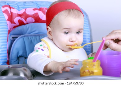 Feeding little baby