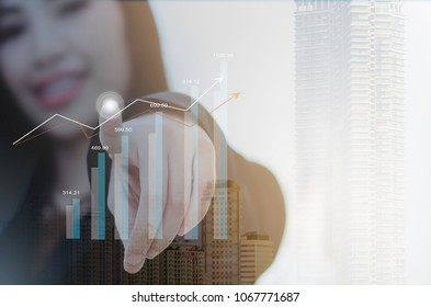 Feel the success with increased revenue. Businessmen are happy with the growing profits.Marketers are explaining their annual revenue performance.
