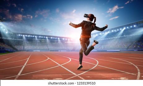 Feel virtual reality. Mixed media