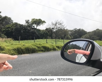 feeling the air while driving