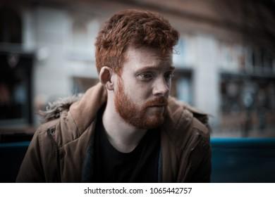 Feeling Down: Man Looking Depressed / Stressed