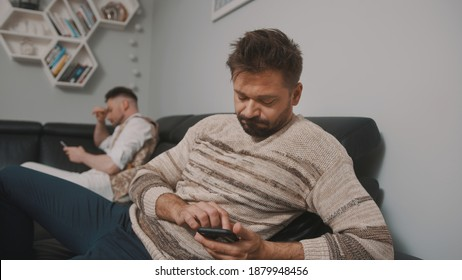 Feeling offended. Gay couple having an argument. Ups and downs in relationship. High quality photo