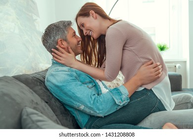 feeling well couple in new apartement