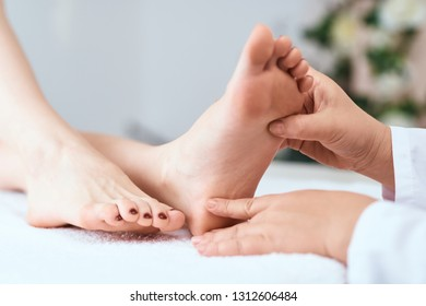 feet care. foot and finger massage