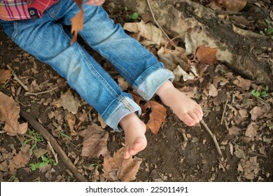 Feet of child