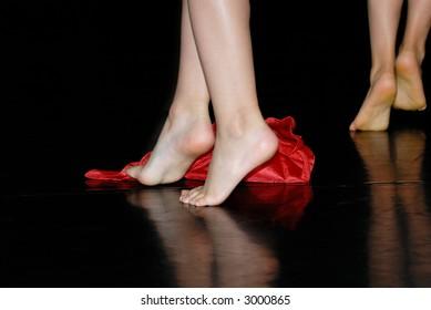Feet of dancing girls