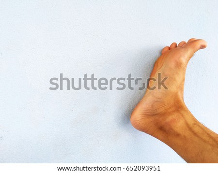 The Feet Or Foot Sole Of Asian Men Are Healthy