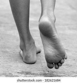 FEET , FOOT ,walk , black and white , B&W