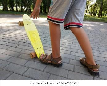 Boy Feet Sandals Images, Stock Photos