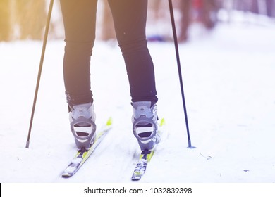 feet on cross-country skiing