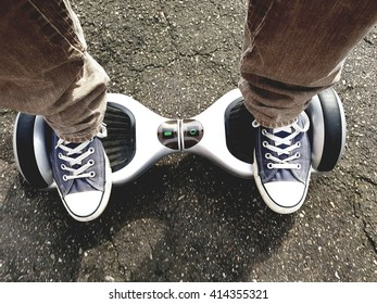 feet on hoverboard
