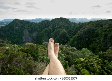 Feet over the high mountain range
