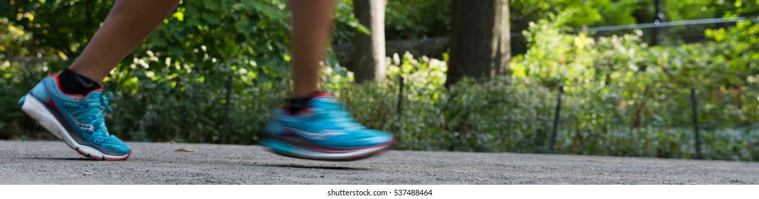 Feet Running in Running sneakers