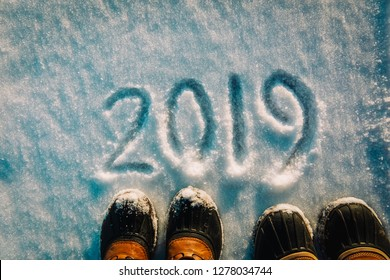 feet in snow boots in 2019 in winter nature