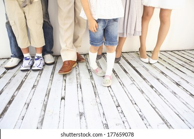 The feet of the three generations