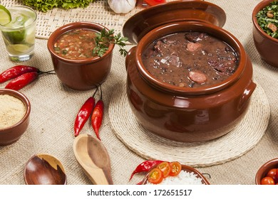 Feijoada, the Brazilian cuisine traditional