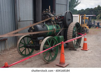 Feilding, New Zealand - Mar 18th 2017: Steam Traction Society Open Day.