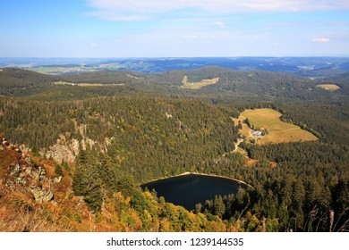 Feldberg Black Forest / Germany - 09 22 2018: Feldberg is a mountain peak in the Black Forest with TV tower.