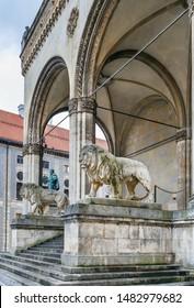 Feldherrnhalle (Field Marshals' Hall) is a monumental loggia on the Odeonsplatz in Munich, Germany