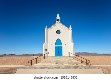 Felicity, CA - Nov 24, 2019: A view of The Church at The Official Center of the World Monument in Felicity, California's Sonora Desert