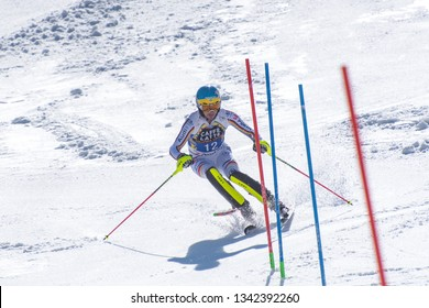 FELIX NEUREUTHER GER takes part in the RACE run for the men´s Slalom race of the FIS Alpine Ski World Cup Finals at Soldeu-El Tarter in Andorra, on March 17, 2019.