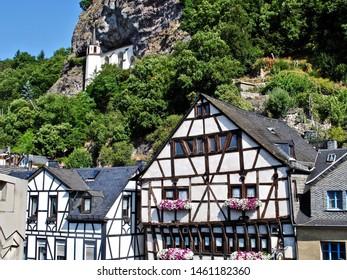 Felsenkirche (Chapel in the Rock or Crag Church) in Idar-Oberstein, Germany.