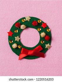 Felt crafts. Christmas card DIY idea. Crafts for kids