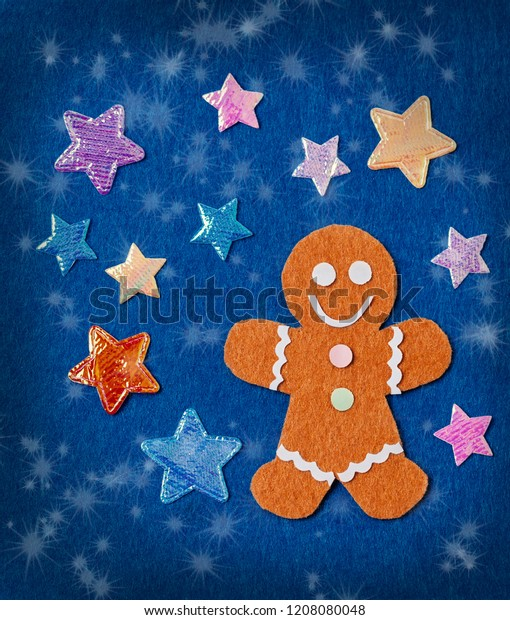 Felt Crafts Christmas Card Diy Idea Stock Photo Edit Now 1208080048
