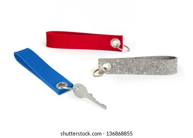 Felt lanyard keyrings as printable giveaway