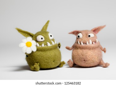 Felted Toy Mosters in Love