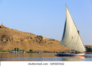 A felucca navigating the Nile