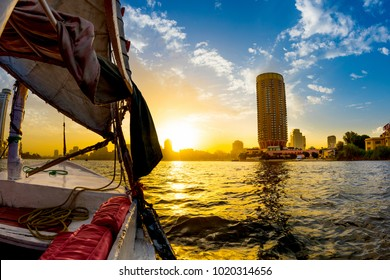 Felucca ride on the Nile, Cairo, Egypt