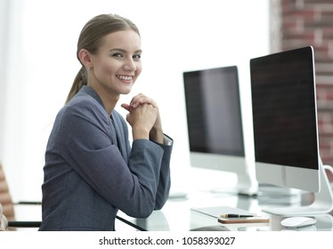 female accountant working with financial charts