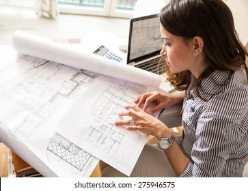 Archi imgenes pagas y sin cargo y vectores en stock shutterstock she looking blueprints malvernweather Image collections