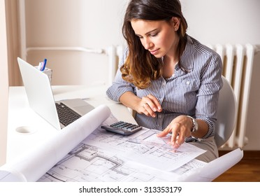 Archi imgenes pagas y sin cargo y vectores en stock shutterstock she looking at blueprint malvernweather Image collections
